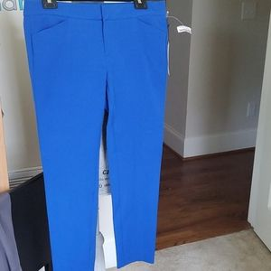 nwt women's blue Crosby chino ankle pants sz 6